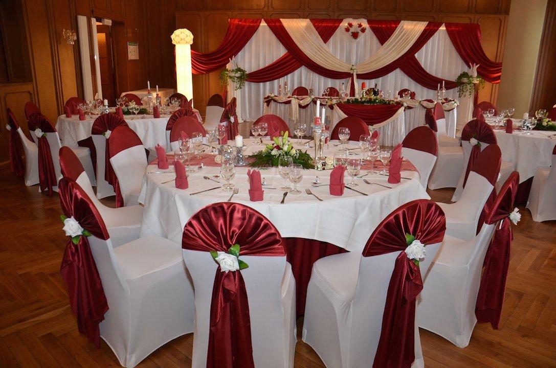 Bordeaux-Hochzeitsdekoration