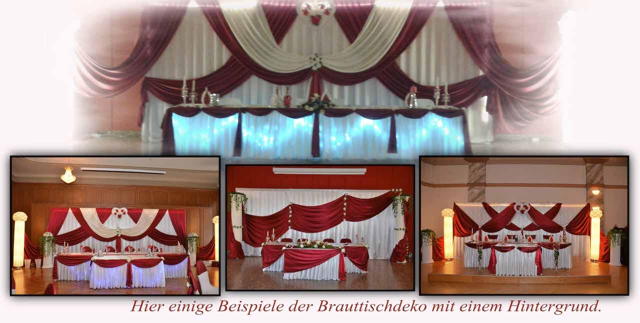 Hochzeitsdeko-Hintergrund-Bordeaux
