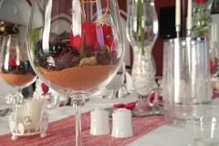 Hochzeitsdekoration-Bordeaux