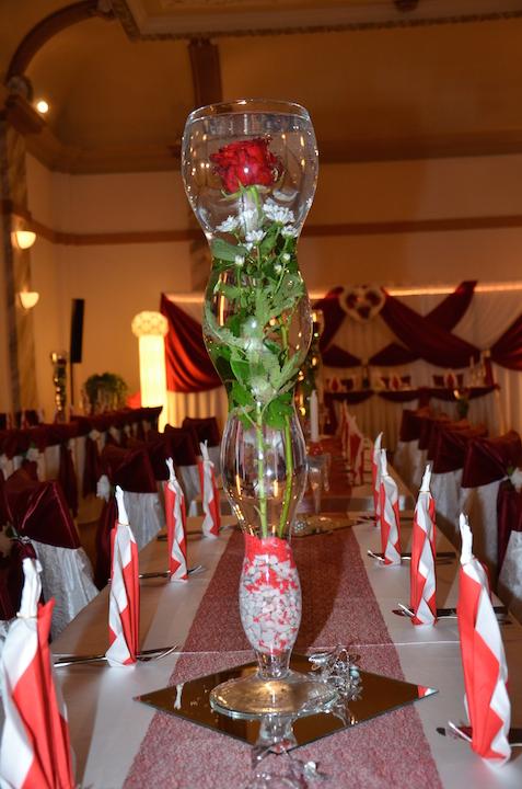 Hochzeitsdeko-Vase