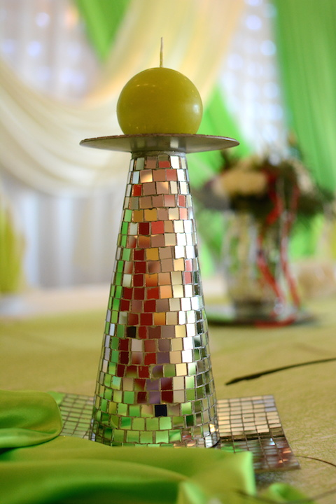 Hochzeitsdekoration-Kerze