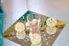 Hochzeitsdeko-Türkis