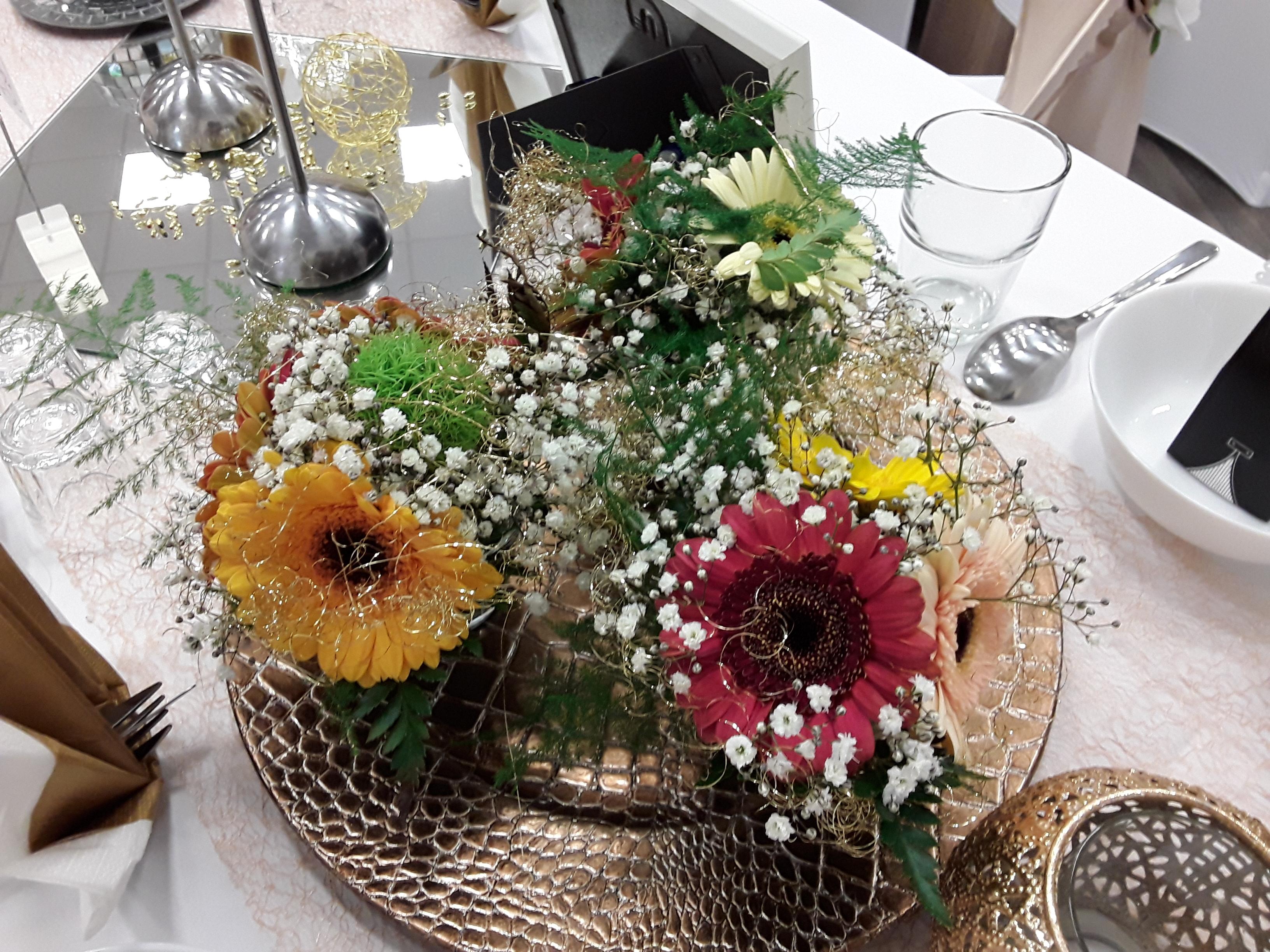 Hochzeit-Gold-Floristik