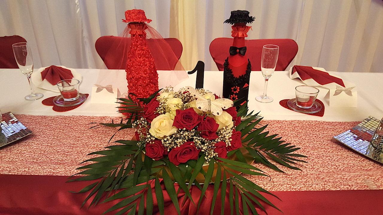 Hochzeitsdekoration-Flaschenanzug