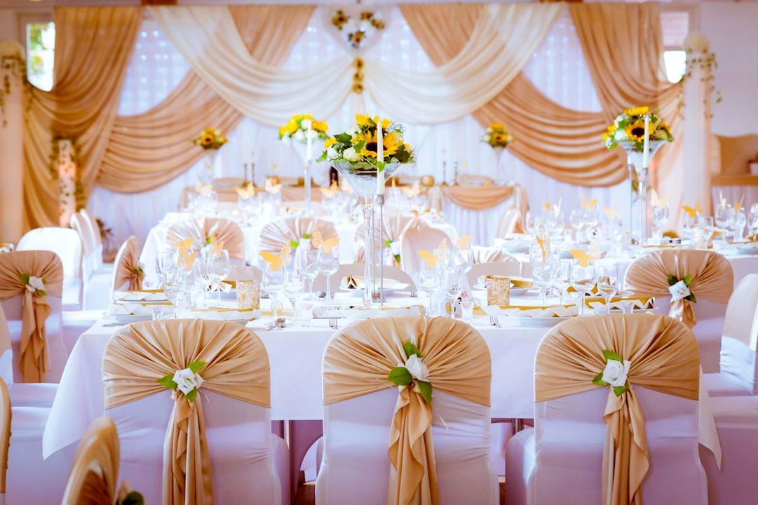 Hochzeitsdekoration service gold anastasia dekoration - Dekoration gold ...
