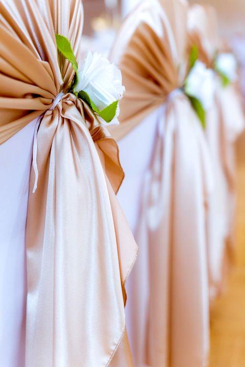 Gold-Dekoration-Hochzeit
