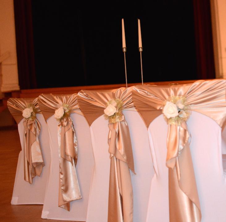Gold-Hochzeit-Stuhlhussen