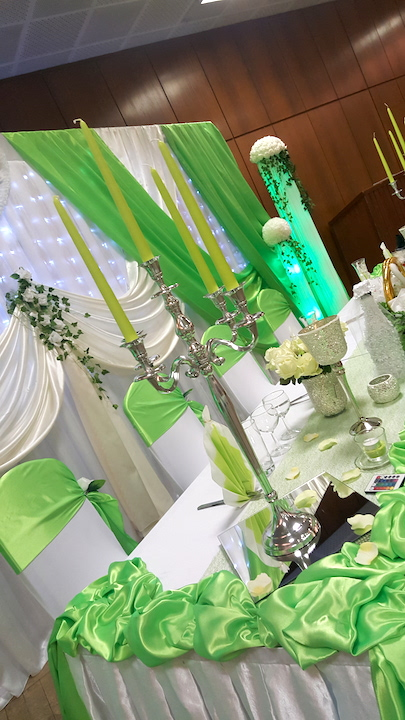 Brauttisch-Deko-Grün