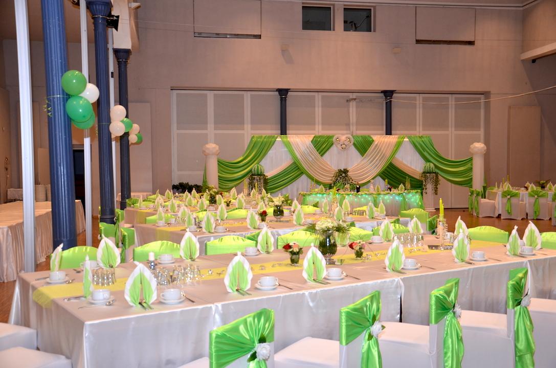 Grün-Hochzeitsdeko