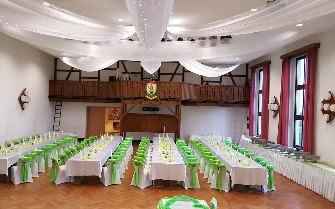 Grün-Hochzeitsdekoration