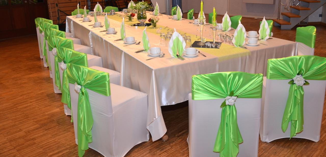 Grüne-Hochzeitsdekoration