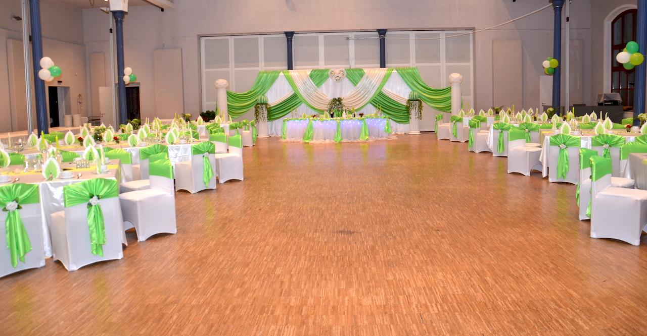 Hochzeitsdekoration-Grün-Dresden