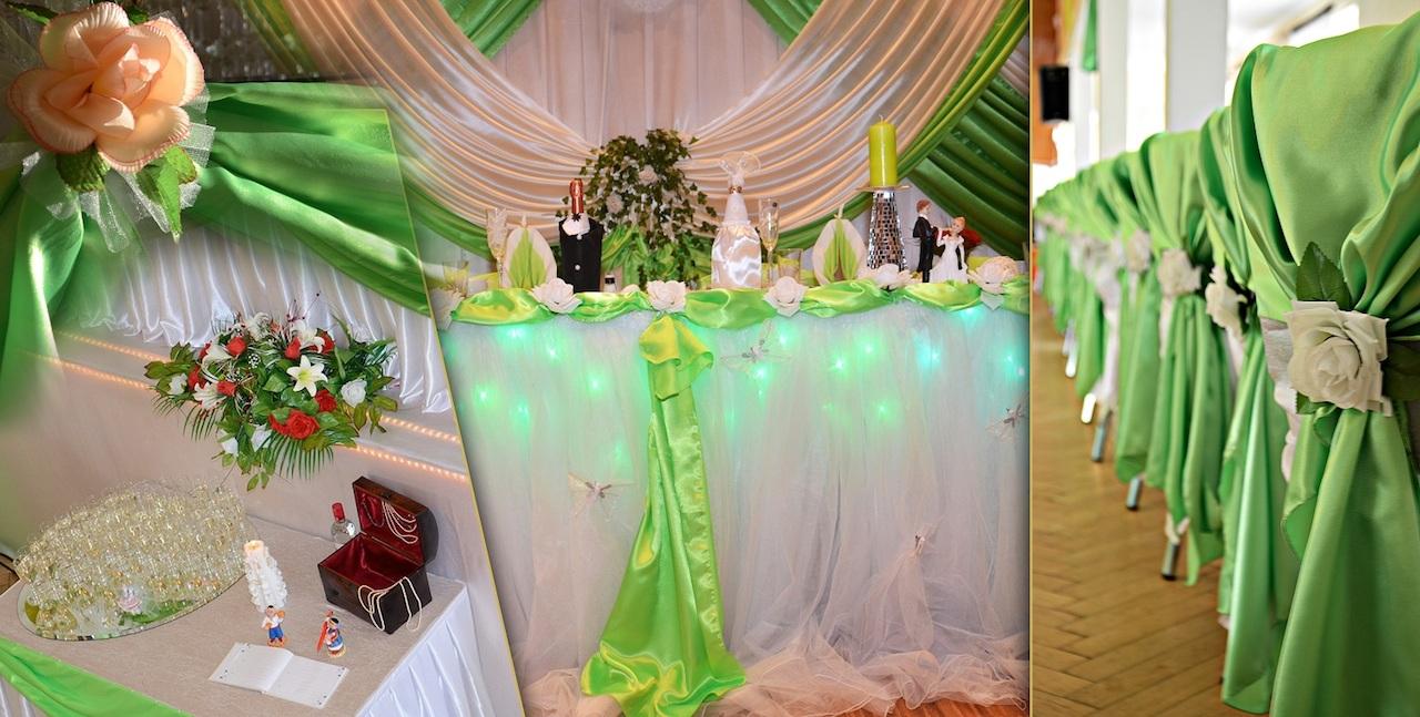 Hochzeitsdekoration-Grün