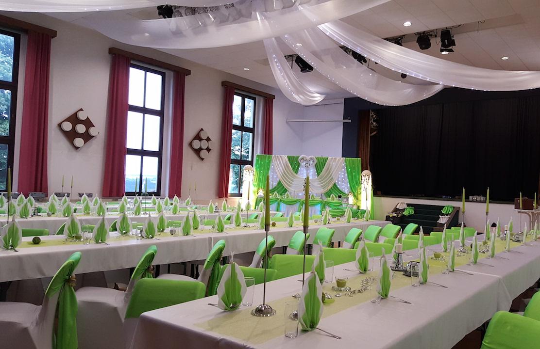 Hochzeitsdekoration-Sachsen-Grün