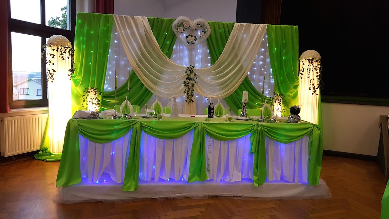 Sachsen-Hochzeitsdekoration-Grün