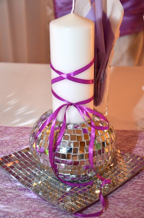 Hochzeit-Deko-Kerze