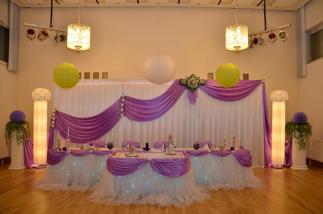Hochzeitsdeko-Brautpaartisch