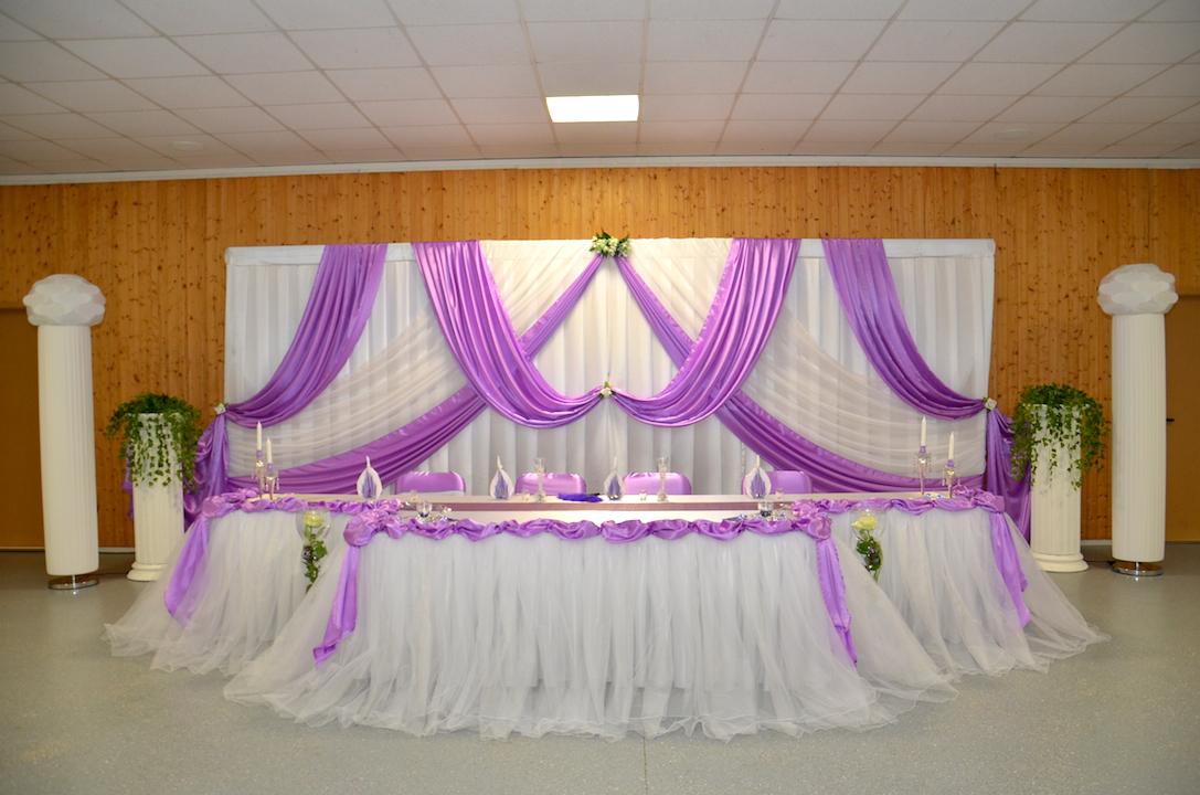 Hochzeitsdeko-Hintergrund