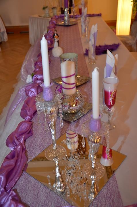 Hochzeitsdeko-Tisch