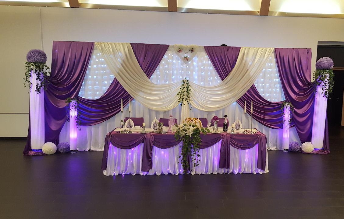 Hochzeitsdekoration-Flieder