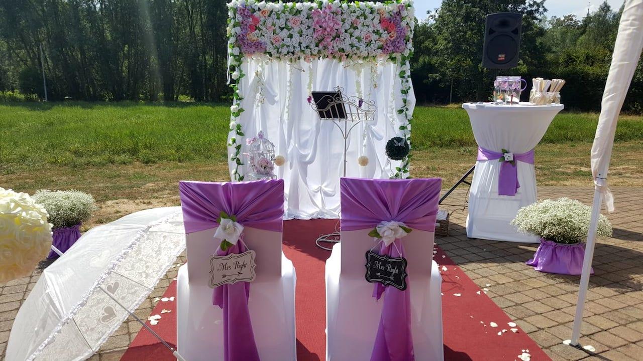 Hochzeitsdekoration-Outdoor