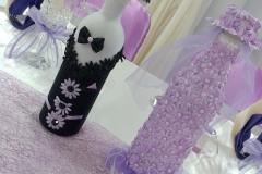 Flascheanzug-Brautpaar-Hochzeit
