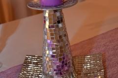 Hochzeitsdeko-Kerze