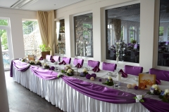 Hochzeitsdeko-Lila