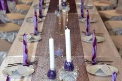Hochzeitsdeko-Tisch-Lila