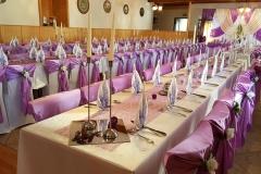Hochzeitsdekoration-Lila