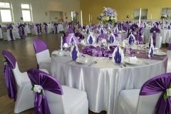Lila-Hochzeitsdeko