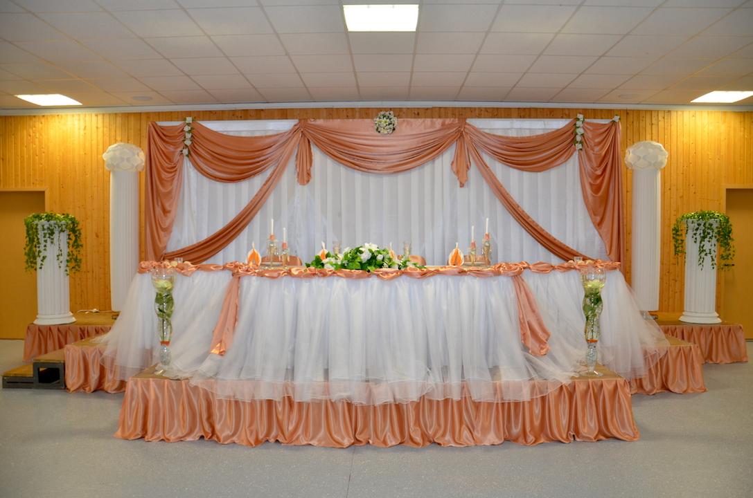 Hochzeitsdekoration-Pfirsich