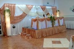 Deko-Pfirsich-Hochzeit