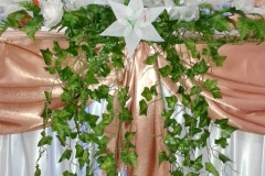 Hochzeitsdeko-Pfirsich