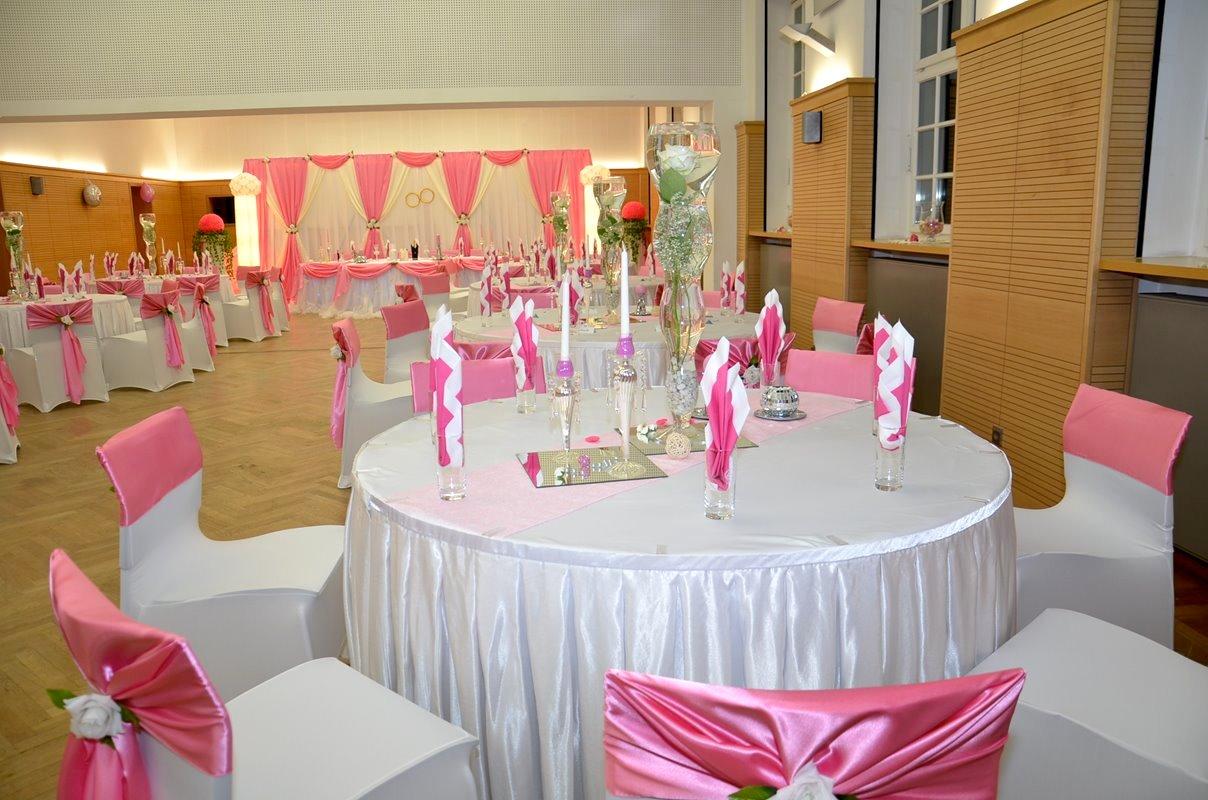 Hochzeitsdekoration Service Rosa Anastasia Dekoration