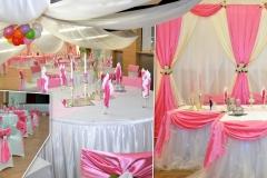 Rosa-Hochzeitsdekoration