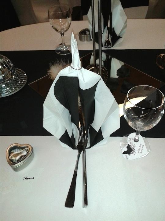 Hochzeitsdeko-Servietten