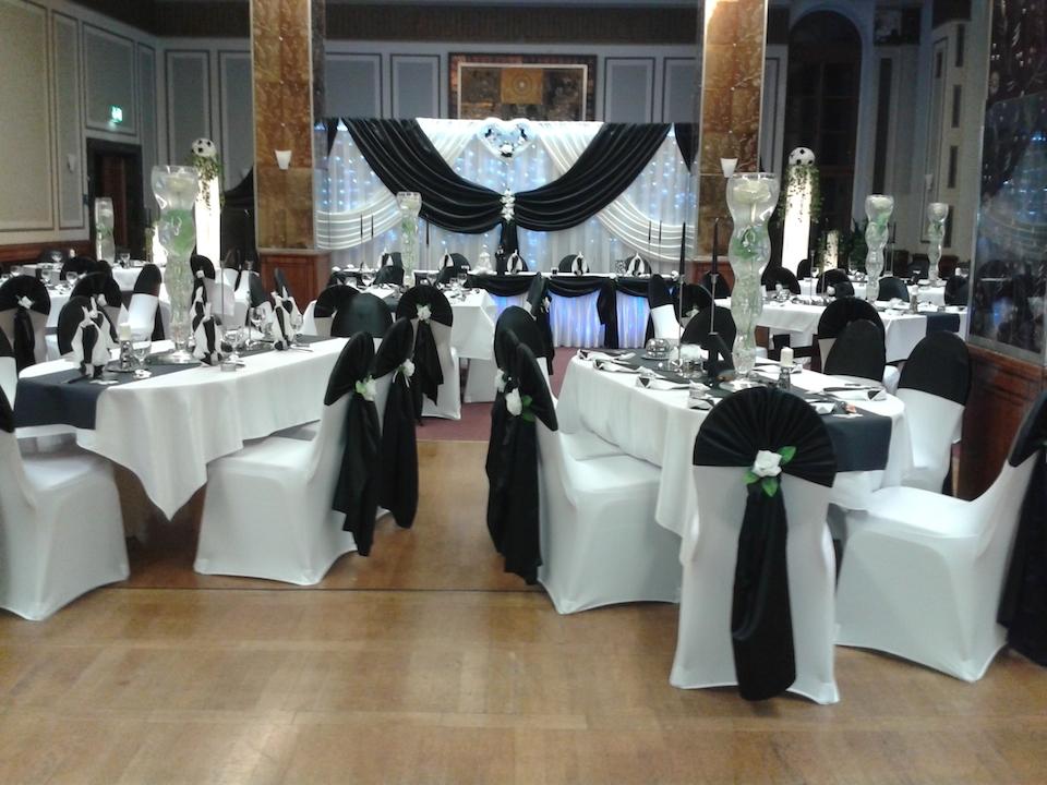 Hochzeitsdekoration-Schwarz