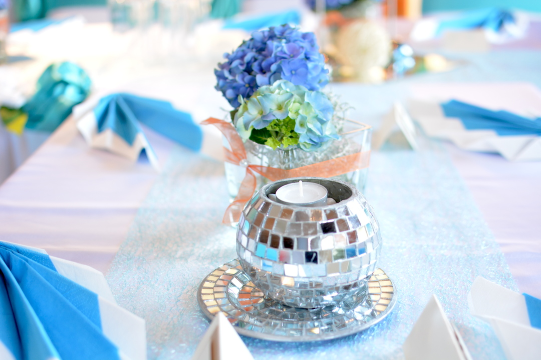 Dekoration-Türkis-Hochzeit