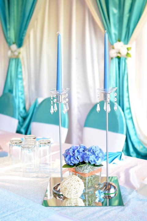 Hochzeit-Dekoration-Türkis