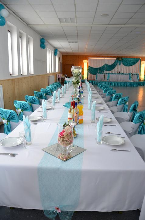 Hochzeitsdekoration-Türkis-Dresden