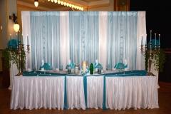 Brautpaartisch-Türkis-Hochzeit