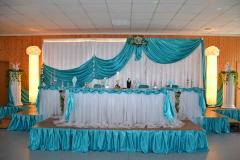 Hintergrund-Brautpaartisch-Türkis-Deko