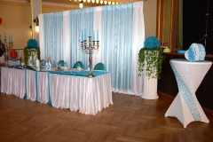 Hochzeitsdekoration-Türkis-Sachsen