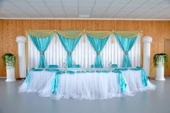 Hochzeitsdekoration-Türkis