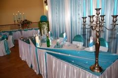 Sachsen-Hochzeitsdekoration-Türkis