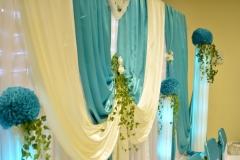 Sachsen-Türkis-Hochzeitsdekoration