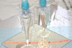Türkis-Hochzeitsdekoration