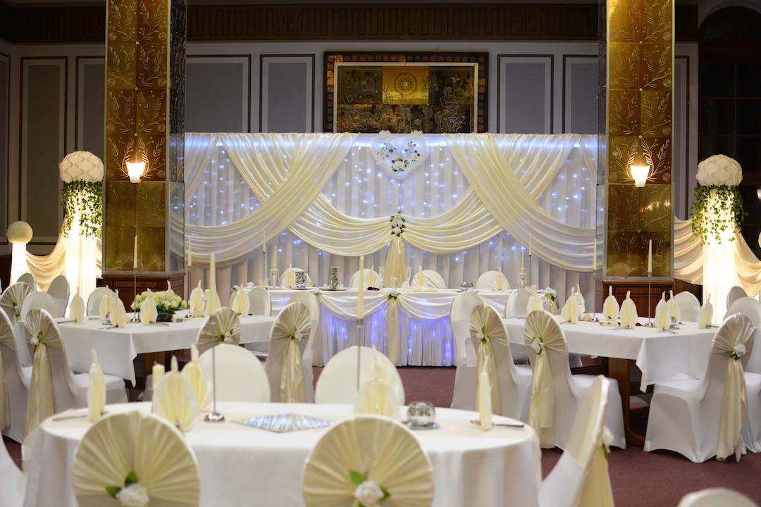Dekoration Hochzeit Creme
