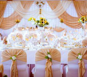 Gold Dekoration Event Hochzeit